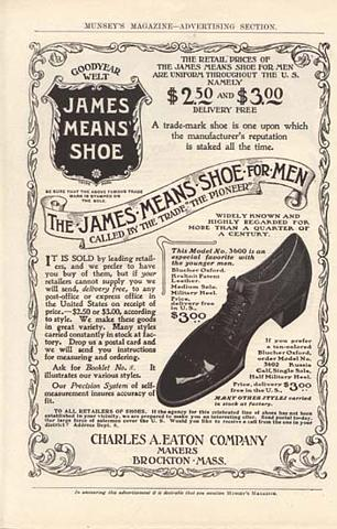 James Means Shoe Ad.
